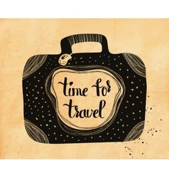 Poster about travel and adventure in retro style vector image
