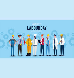 professional worker people to labour day vector image