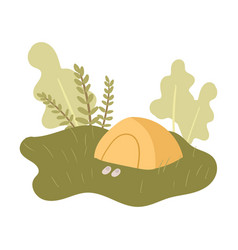 rest at holidays in peaceful nature place in vector image
