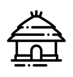 Safari house icon outline vector