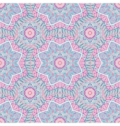 Seamless pattern tracery oriental design vector image