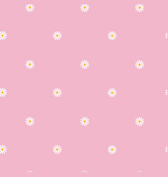 seamless pattern with small camomile flowers on vector image