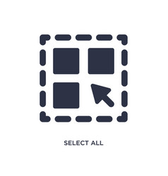 Select all icon on white background simple vector