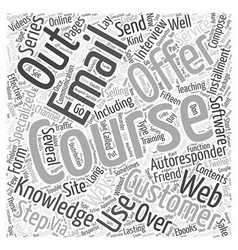 Selling and Teaching via Email Word Cloud Concept vector