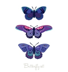 Set of decorative butterflies vector