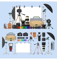 set of photography isolated objects Photo vector image