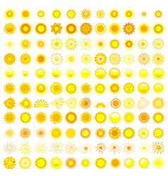 Set of sun icon vector image