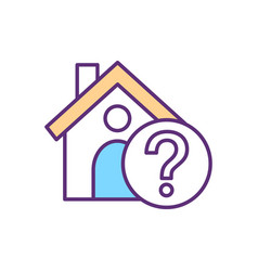 Shelter absence rgb color icon vector