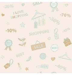 Shopping set pattern vector image