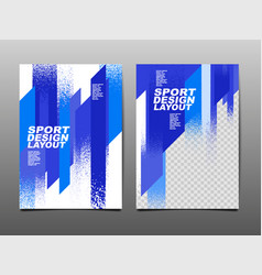 Sport design layout template design vector