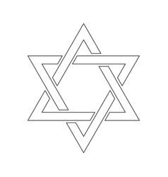 star of david hexagram sign symbol of jewish vector image