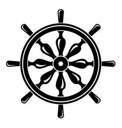 Steering wheel icon simple style vector