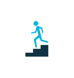 step down icon colored symbol premium quality vector image