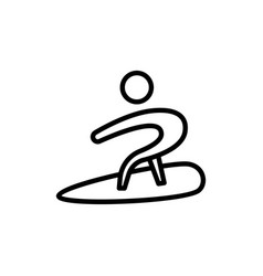 surfer icon sign vector image