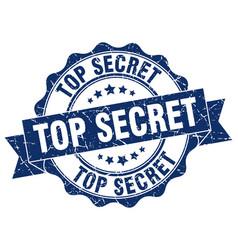 Top secret stamp sign seal vector