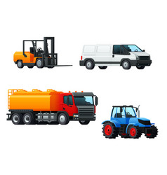 Transportation 3d icon design with road transport vector