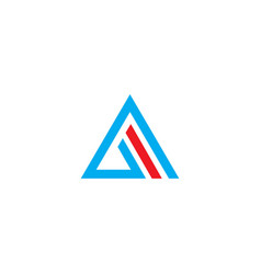triangle abstract line company logo vector image