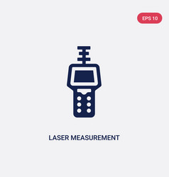 Two color laser measurement icon from general vector