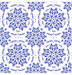 vintage floral ornate seamless pattern vector image