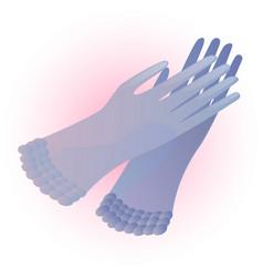 Vintage gloves vector