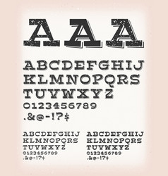 vintage grunge and tattoo comic abc font vector image