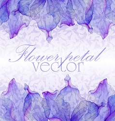 Watercolor greeting floral card vector