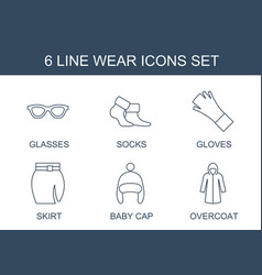 wear icons vector image