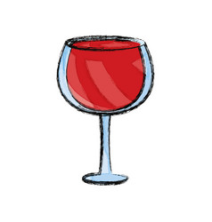 Wine glass cup vector