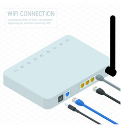 wireless wi-fi router vector image