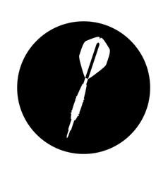 dart arrow isolated icon vector image vector image