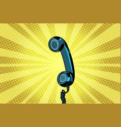 retro handset pop art background vector image