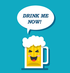 A mug of beer is calling for a drink vector
