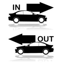 Car entrance and exit vector image vector image