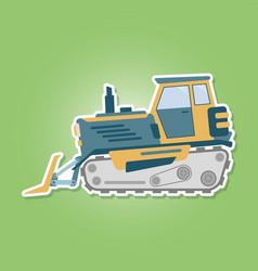 icon with farm tractor vector image vector image