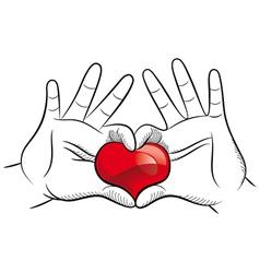 Love hands vector image