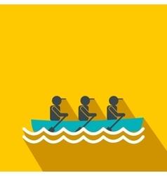 Rowing race flat icon vector image