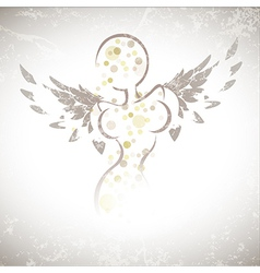 Winged girl vector image vector image