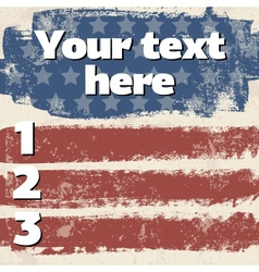 American flag vintage background vector image vector image
