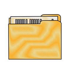 Color blurred stripe of court documents folder vector