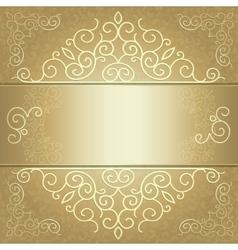 Golden background card invitation or menu vector