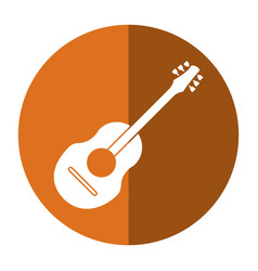 guitar traditional acoustic music shadow vector image vector image