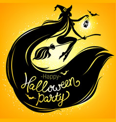 happy halloween party bright poster vector image