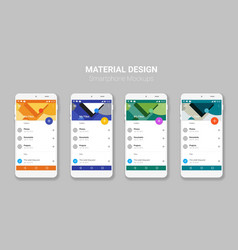 Material UI screens mockup kit vector image