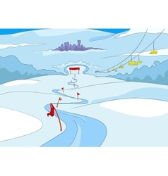 Ski Resort vector image