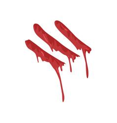 bloody fingerprint with streaks vector image