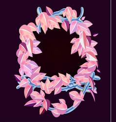 cartoon of pink wooden frame vector image vector image