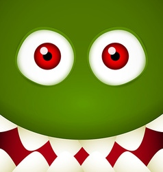 Green Monster face vector image