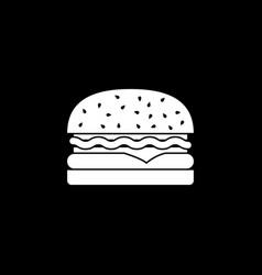 hamburger solid icon food drink elements vector image vector image