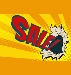 sales hole the business background of season vector image