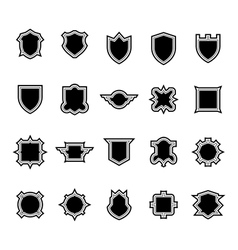 Shield set 3 vector image